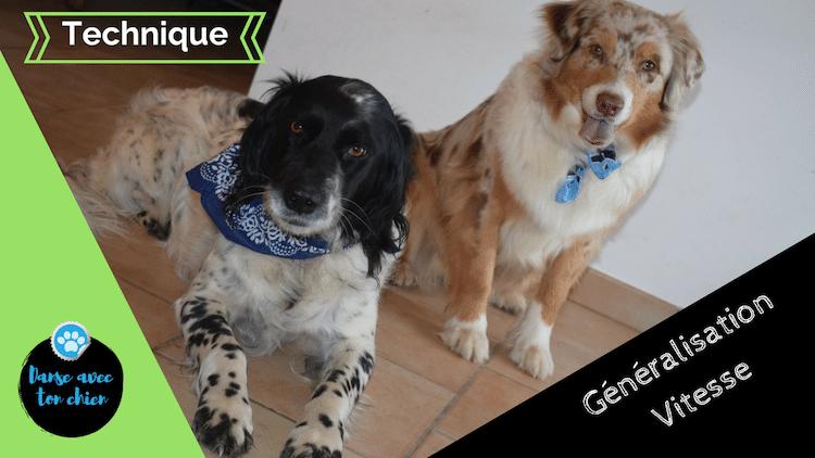 miniature avec 2 chiens et des ecritures