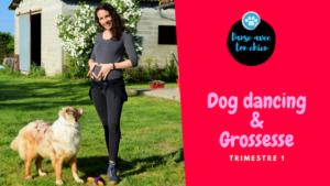 femme enceinte et son chien