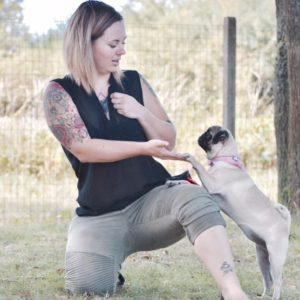 Laetitia et nerver font du dog dancing