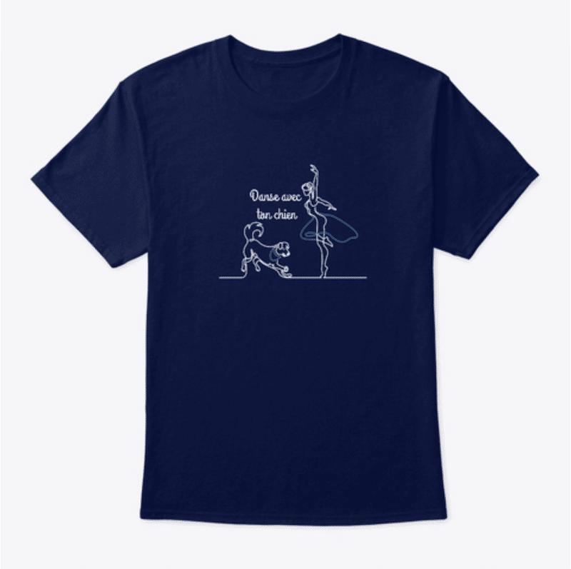 T shirt homme Danse avec ton chien