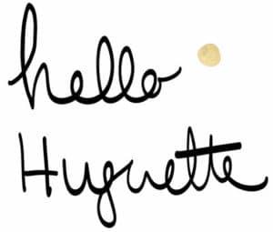 Logo Hello Huguette illustration