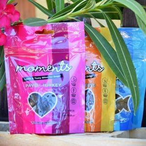 3 sachets de friandises naturelles Moments