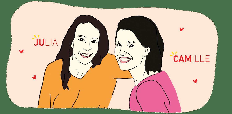 Julia et Camille les créatrices de Cerise & Cracotte