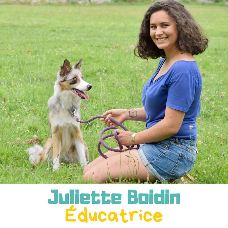 Juliette Boidin, éducatrice en positive de Danse avec ton chien